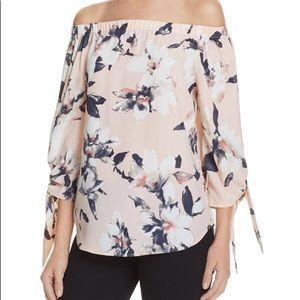 Aqua floral top